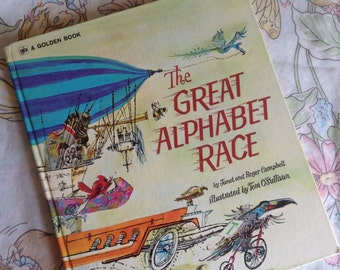 1972 The Great Alphabet Race Big Golden Book