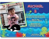 Under the Sea Birthday Invitation - Digital File