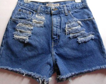 Vintage 80's High Waisted Shorts Waist 30   inches