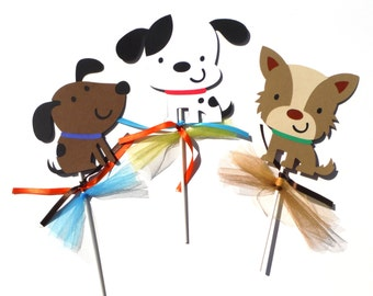 Puppy Dog Party Themed Centerpiece Sticks Set of 3 for a Birthday Party