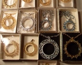 Lot Of 13 Miscellaneous Gold And Silver Colored Rope Chain Necklace Coin Carriers