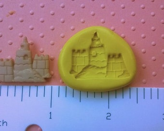 SILICONE SAND CASTLE mold flexible mold heat safe food safe mold for fondant cake decorations cupcake toppers polymer clay plaster