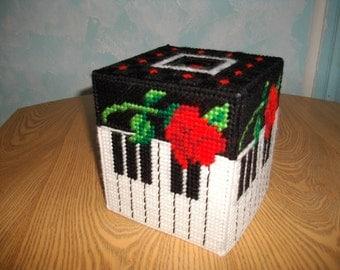 Piano Keys Tissue Box Cover