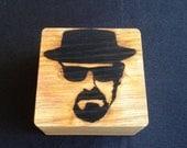 Heisenberg Keepsake Box, Breaking Bad Pop Art Branded in Solid Oak