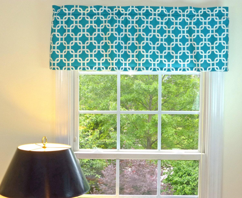 white and teal valance teal blue valance moroccan. Black Bedroom Furniture Sets. Home Design Ideas