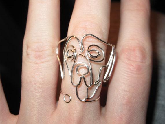 Alambre envuelto otro anillo de perro hecho por por 1ofAkinds