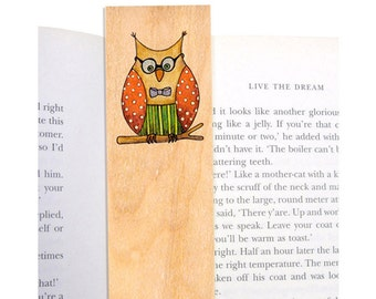 Set of 5 Wooden Bookmarks for Him