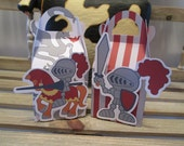 Knights in Armor  Gable Favor Boxes Set of 12