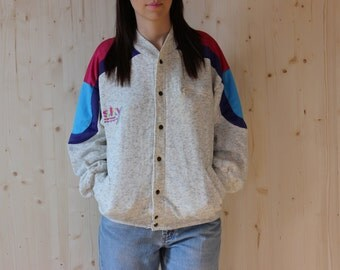 Cotton Bomber Jacket 90s Varsity Jacket