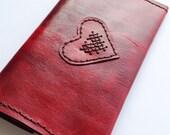 Handmade RED leather Ladies wallet
