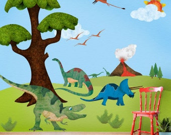 Dinosaur Wall Stickers Decals for Boys Room Wall Mural