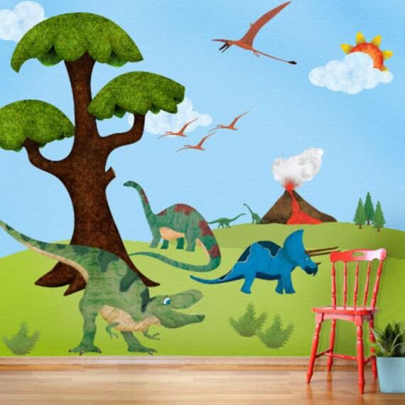 Boys Bedroom Ideas Dinosaur Theme: Dinosaur Wall Stickers Decals For Dinosaur Theme Room Wall