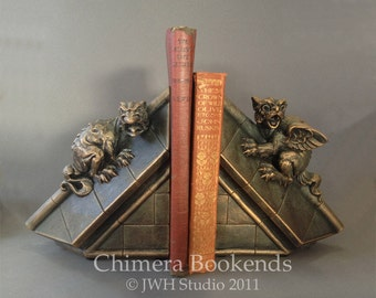 Chimera Bookends by Jay W. Hungate