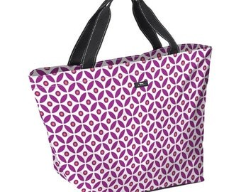 Monogrammed Personalized  Hot Pink Scout Weekender Gettin' Dot in Here Tote Beach Bag Wedding Party Gift