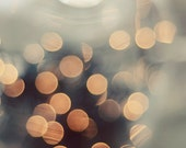 Abstract photograph, lights, sparkly, gold, cream, ethereal, blurred lights, bokeh photograph, abstract wall art, abstract lights, 11x14