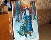 German Postcard St. Nicholas 1908 Fountain Pen Message Fostoria Ohio Early Example Ephemera Art Card Free Shipping