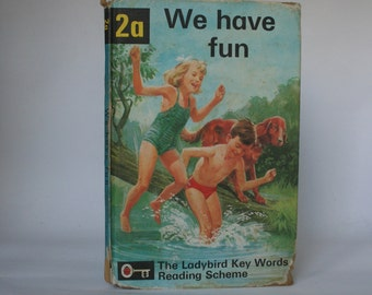 Ladybird Book We have Fun Notebook handmade, 1960s Peter and Jane book Thank You Teacher