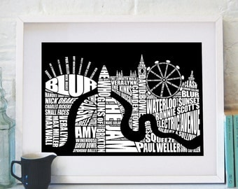 London Music Screenprint