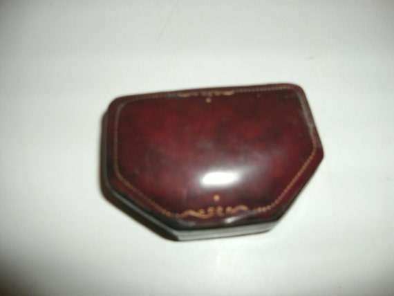 Vintage Italian Oxblood Leather Box - Fatto a Mano