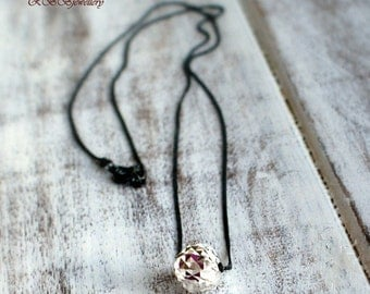 Sterling Silver Oxidize Sterling Silver  Necklace
