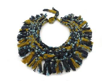 SALE - Detachable Knitted Fringe Collar