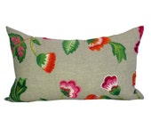 Manuel Canovas Carla lumbar pillow cover in Rose Indien
