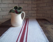 Small Burlap Table Runner, 10 x 24 - 12 x 24 - 14 x 24, Vintage Style Runner, Country Kitchen Farmhouse Decor, Rustic Burlap Home Decor