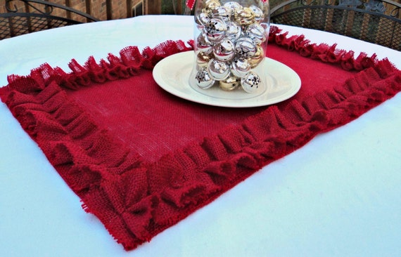 Pick Your Size and Color Burlap Table Runner Christmas Table Runner Holiday Table Settings Red Christmas Runner Rustic Centerpiece