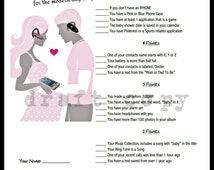 Baby Shower Game-Whats in your phone Game for Couples Shower