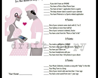 baby shower game whats in your phone game for couples shower