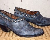 The Skyler Short Western Cowgirl Boots Hand Painted, sewn and Studded