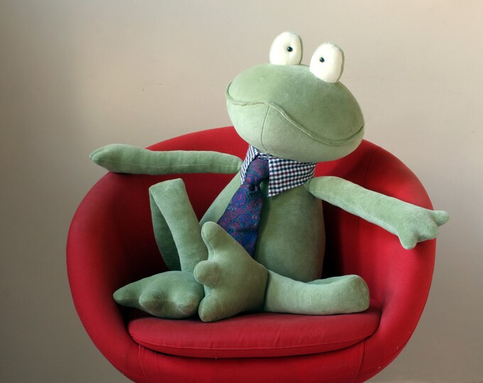 Moss Green Giant Frog stuffed plush toy