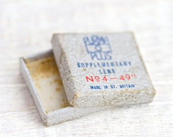 Antique Tiny Box - Purma Plus Supplementary Lens Made in Britain