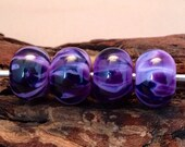 Lampwork Bead Set - Handmade Purples