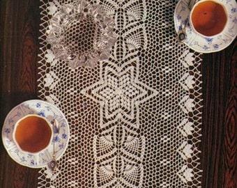 Oval crochet doily, table decoration, center piece   PATTERN (symbol chart only)