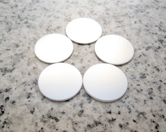 """11/16"""" (17MM) Round Disc (for Small Floating Locket) Stamping Blanks, 22g Stainless Steel - AWESOME Silver Alternative R055"""