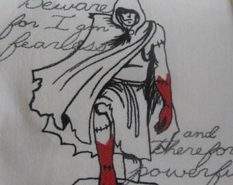 Dark Tales - Frankenstein Embroidered Flour Sack Hand/Dish Towel