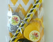 Bash in a Box: Bumblebee Party Pack - Black and Yellow - Bags, Straws, Balloons, Cupcake L