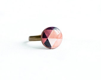 Geometric ring, 4 colors available, adjustable tiny ring