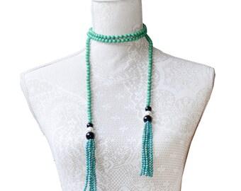 Tamara- Turquoise Lariat
