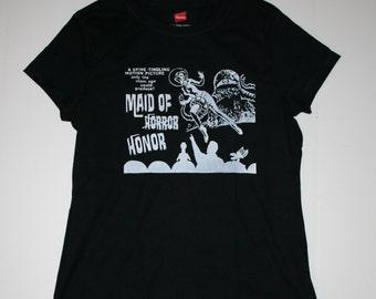 Womens Medium Mystery Science Theater 3000 - Maid of Honor - Parody Wedding Party Rehearsal T-shirt