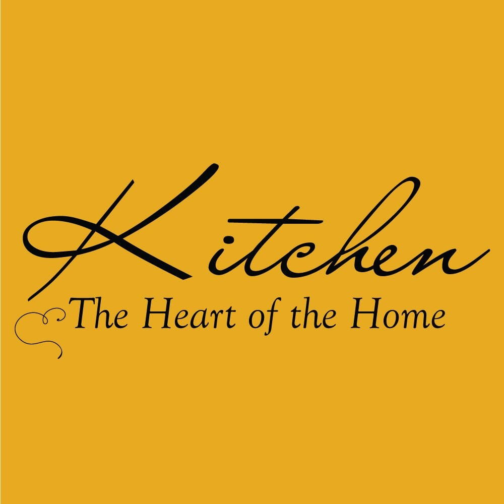 Kitchen The Heart Of The Home Decor Vinyl Wall Decal Quote