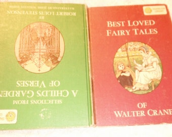 Dandelion 2 in 1 Book Best Loved Fairy Tales of Walter Crane  Selections from  A Child's Garden of Verses