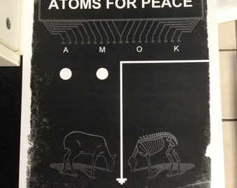 Atoms for Peace band poster print