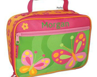 Personalized Girls Lunch Box Bag Stephen Joseph Butterfly