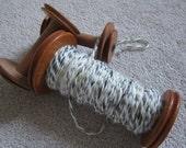Vegan Organic Cotton Handspun Yarn, 2-ply, hand-dyed
