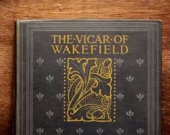 Illustrated Oliver Goldsmith book The Vicar of Wakefield with illustrations by Margaret Jameson