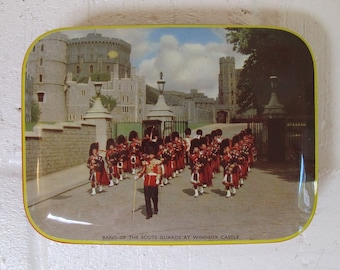 Vintage Riley's Toffee Tin featuring Scottish Guards at Windsor Castle