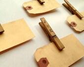 Personalized  Escort Card Kit. Set of 50. Anthro Boho Vintage Wedding. Custom Seating Card. Luggage Tag. Name Tag. Place Card. Light