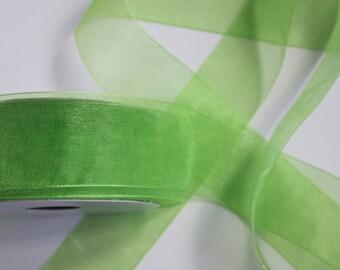 "1 1/2"" Organza Ribbon -  Kiwi - Full Spool - 25 yards"